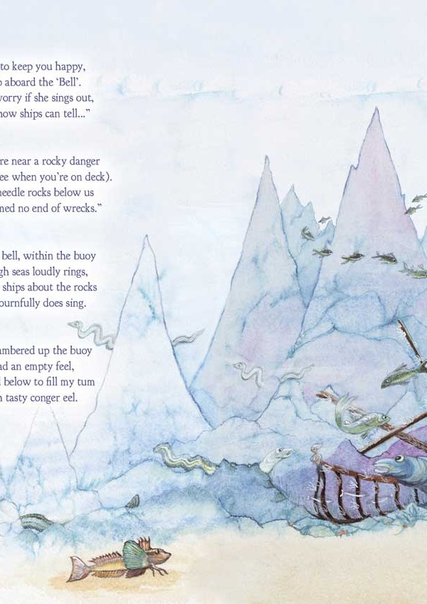 Pages from the book The Ballad of Morgowr written and illustrated by Judy Scrimshaw of Granny Moff Books